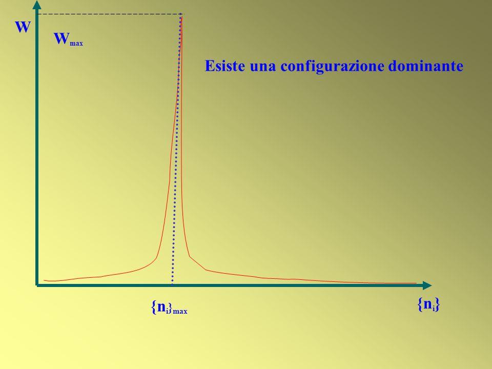 Esiste una configurazione dominante W {n i } max W max {n i }