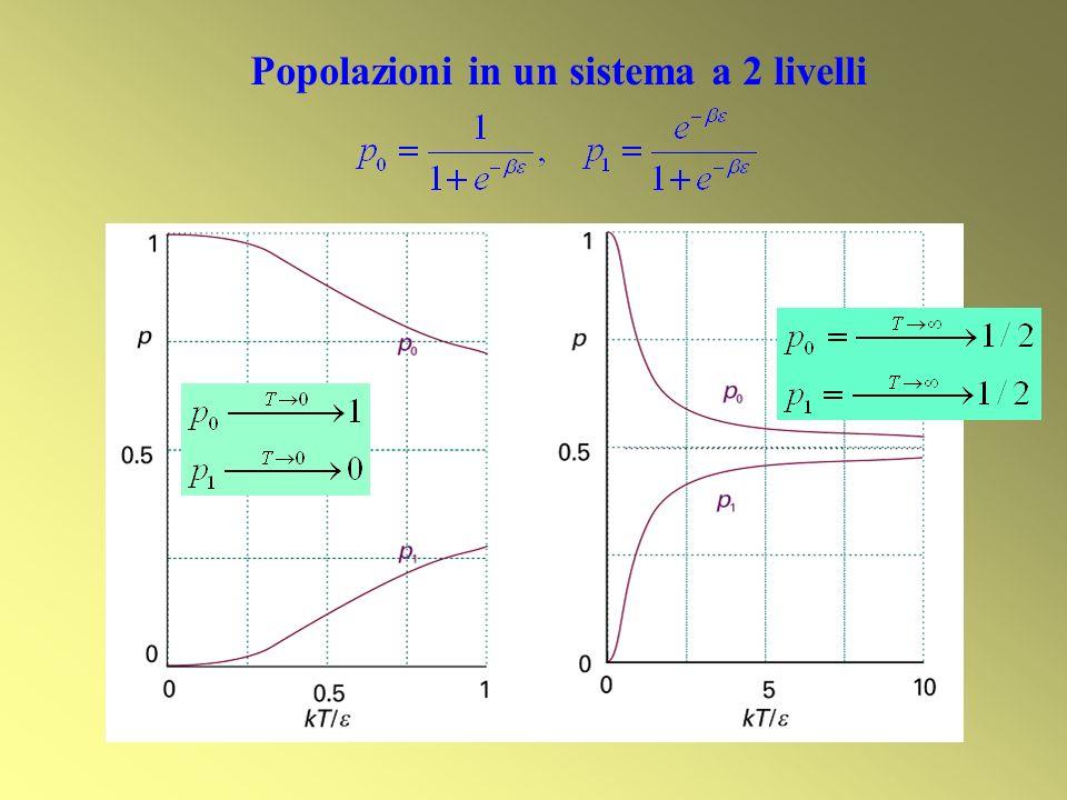 Popolazioni in un sistema a 2 livelli