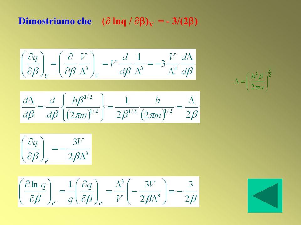 Dimostriamo che ( lnq / ) V = - 3/(2 )