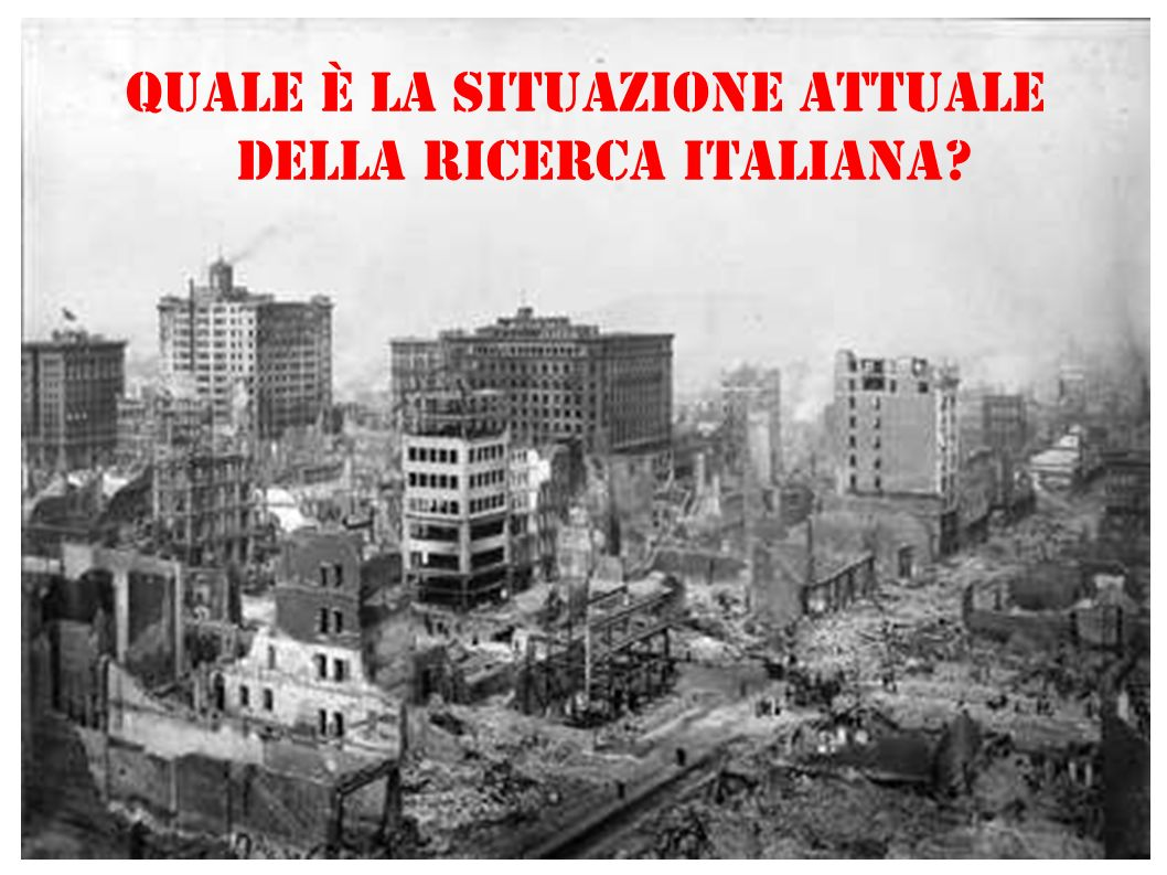 Quale è la situazione attuale della Ricerca Italiana?