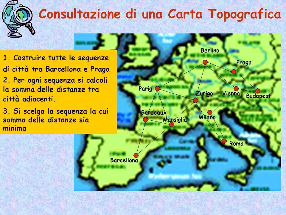 Consultazione di una Carta Topografica Barcellona Parigi Praga Berlino Roma Vienna Milano Budapest Marsiglia Bordeaux