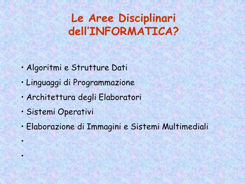 Che cos è lINFORMATICA? LInformatica è la Scienza della Rappresentazione e dellElaborazione dellInformazione Secondo la ACM (Association for Computing