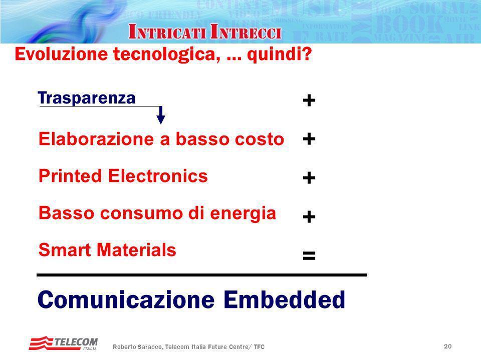 Rotary, Padova – 20 gennaio 2010 Futuro ICT Roberto Saracco, Telecom Italia Future Centre/ TFC 19 Evoluzione tecnologica, … quindi? Larghissima banda