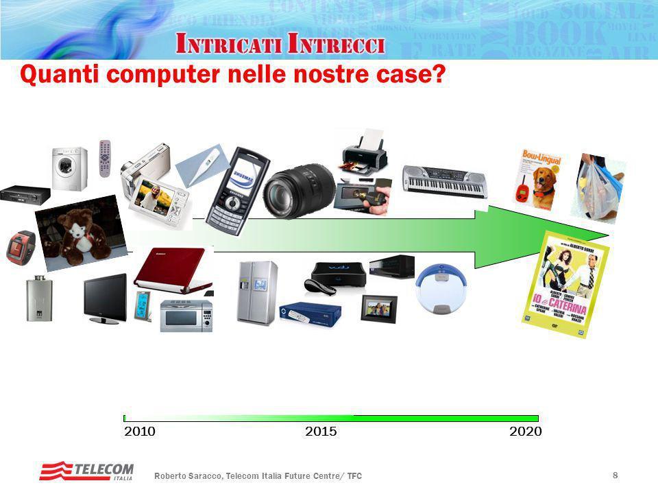 Rotary, Padova – 20 gennaio 2010 Futuro ICT Roberto Saracco, Telecom Italia Future Centre/ TFC 8 Quanti computer nelle nostre case.