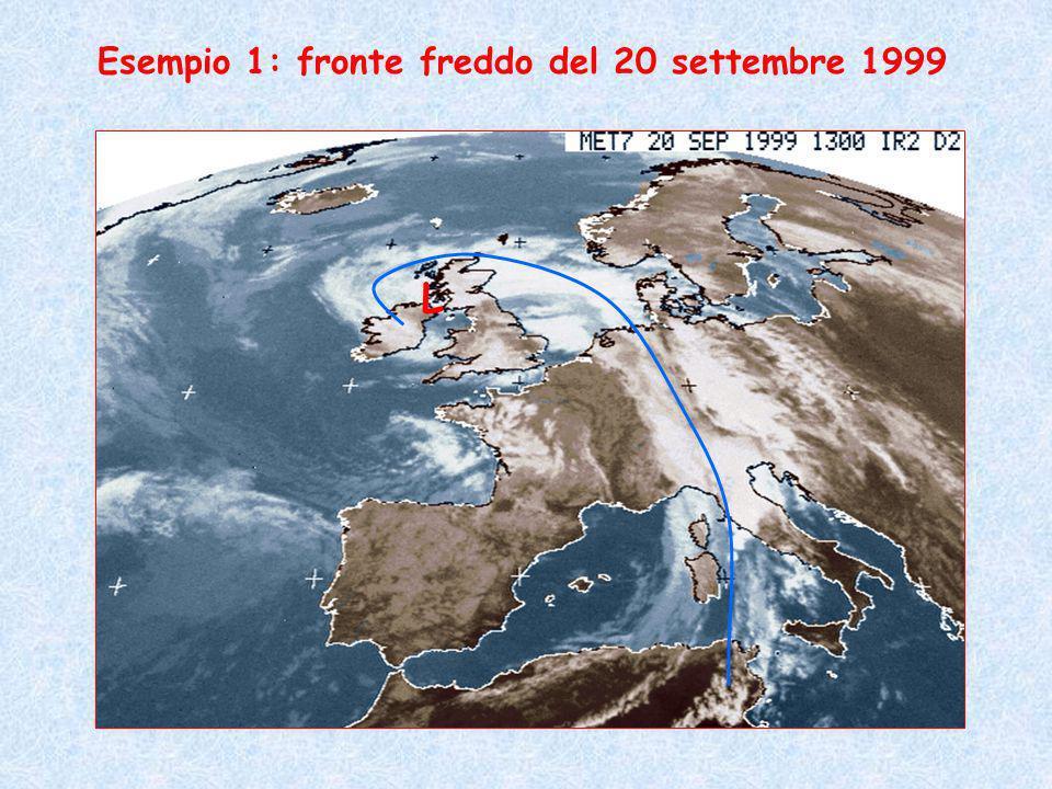 L Esempio 1: fronte freddo del 20 settembre 1999