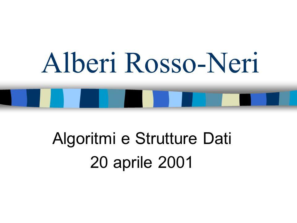 Alberi Rosso-Neri Algoritmi e Strutture Dati 20 aprile 2001