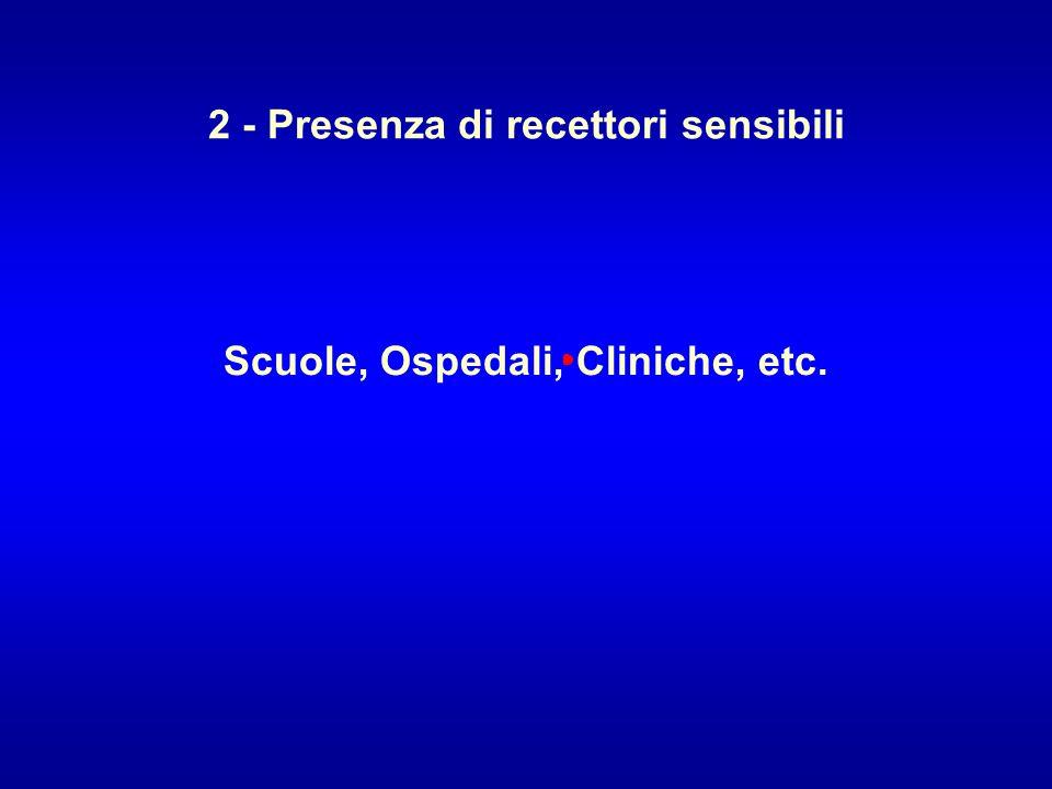 2 - Presenza di recettori sensibili Scuole, Ospedali, Cliniche, etc.