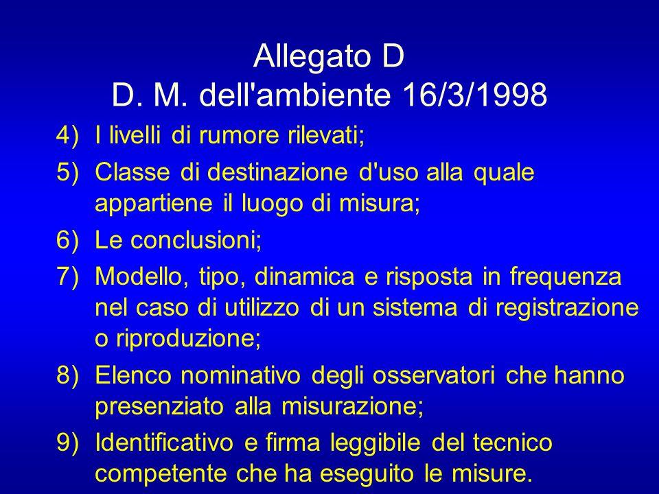 Allegato D D.M.