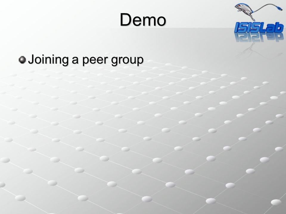 Demo Joining a peer group