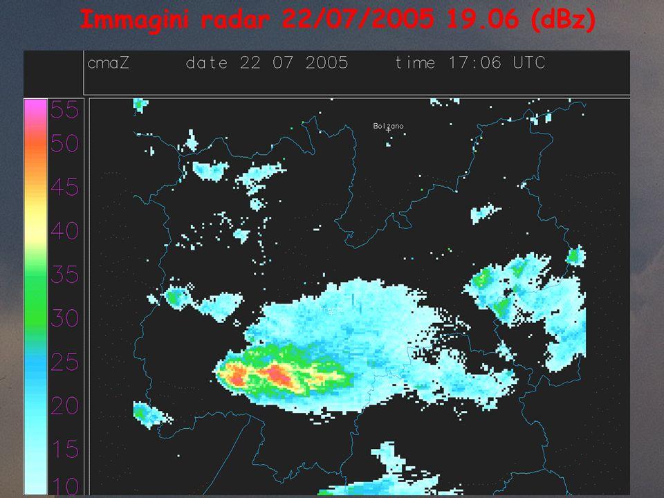 Immagini radar 22/07/2005 19.06 (dBz)