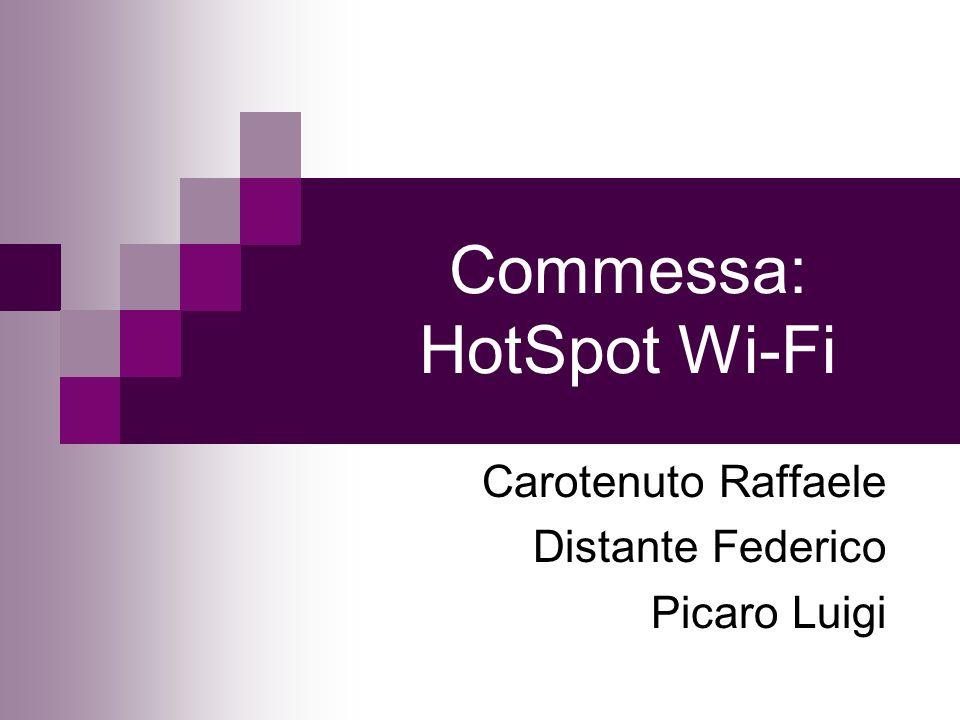 Commessa: HotSpot Wi-Fi Carotenuto Raffaele Distante Federico Picaro Luigi