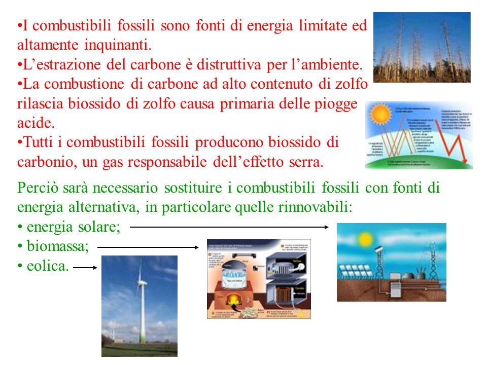 I combustibili fossili sono fonti di energia limitate ed altamente inquinanti.