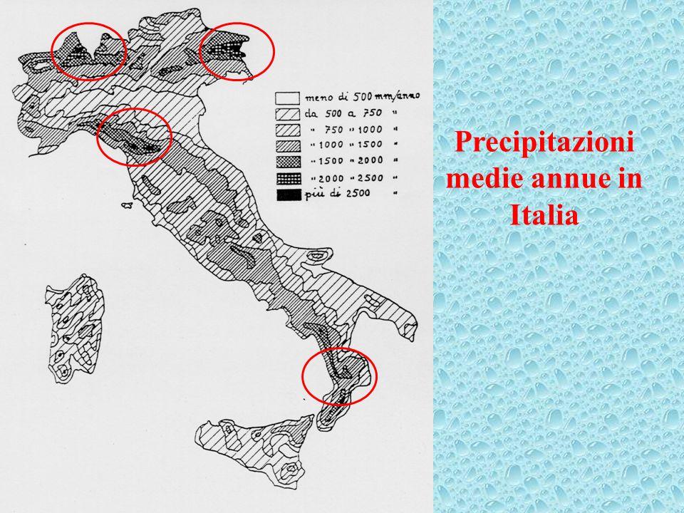 Precipitazioni medie annue in Italia