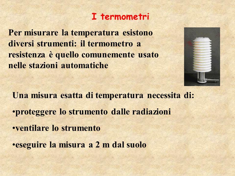 Gradiente verticale della temperatura in troposfera 1 °C/100m 0,65 °C/100m 0,5 °C/100m aria secca e tendente allinstabili tà aria umida