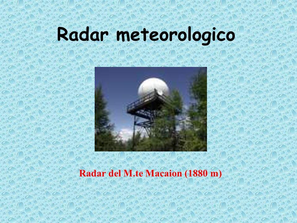 Radar meteorologico Radar del M.te Macaion (1880 m)