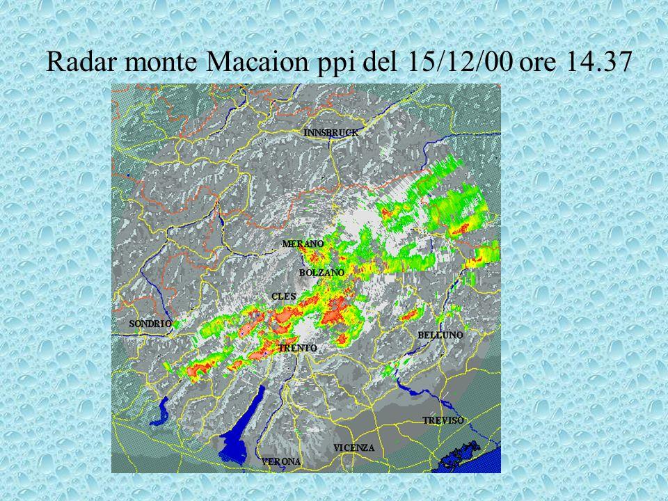 Radar monte Macaion ppi del 15/12/00 ore 14.37
