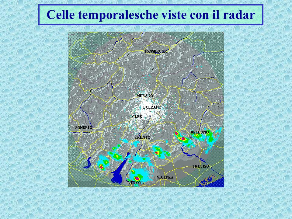 Celle temporalesche viste con il radar