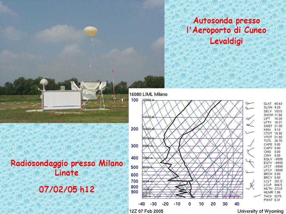 Autosonda presso l'Aeroporto di Cuneo Levaldigi Radiosondaggio presso Milano Linate 07/02/05 h12