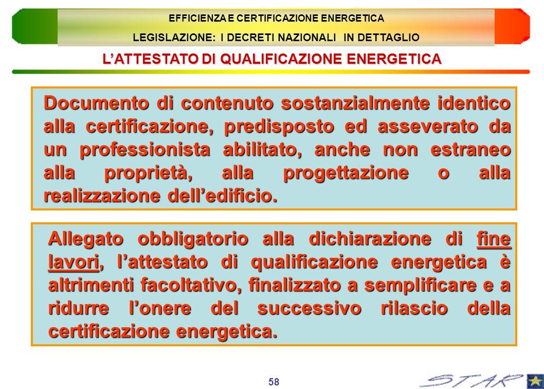 Documento di contenuto sostanzialmente identico alla certificazione, predisposto ed asseverato da un professionista abilitato, anche non estraneo alla