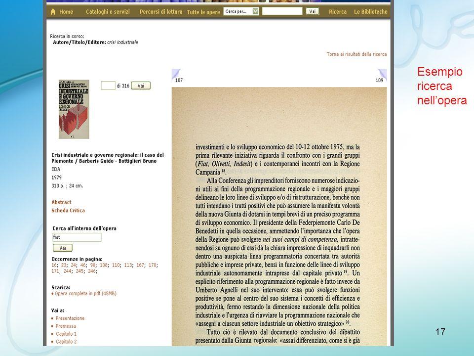 ISMB17 Esempio ricerca nellopera