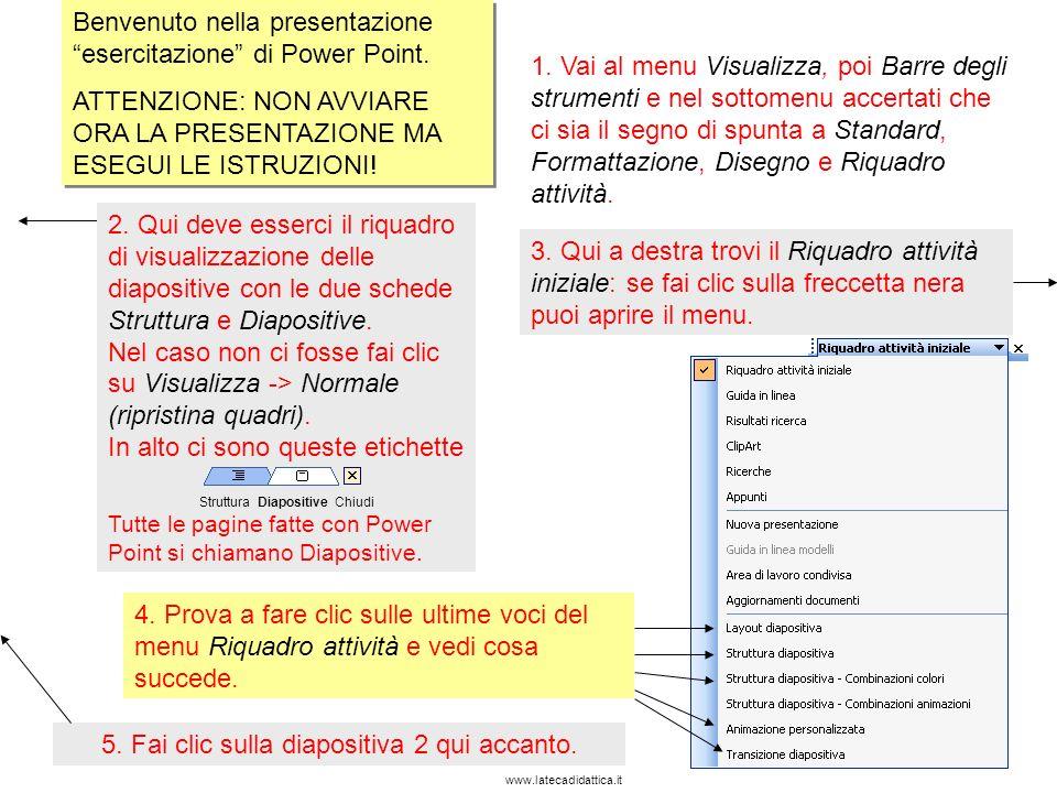 www.latecadidattica.it In questa diapositiva imparerai a scegliere il layout di una diapositiva.