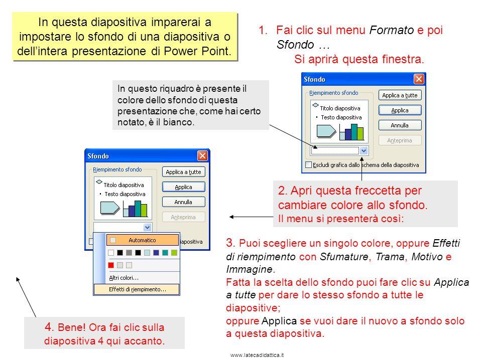 www.latecadidattica.it In questa diapositiva imparerai a inserire unimmagine da file, a inserire una WordArt e una casella di testo.