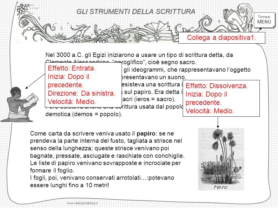 GLI STRUMENTI DELLA SCRITTURA www.latecadidattica.it Nel 3000 a.C.