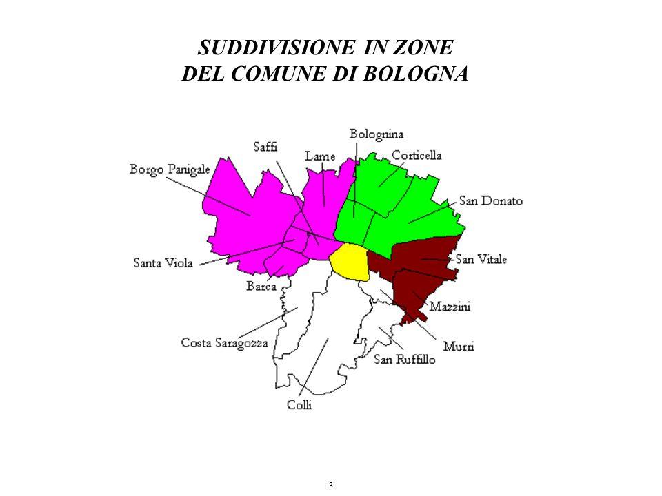 3 SUDDIVISIONE IN ZONE DEL COMUNE DI BOLOGNA
