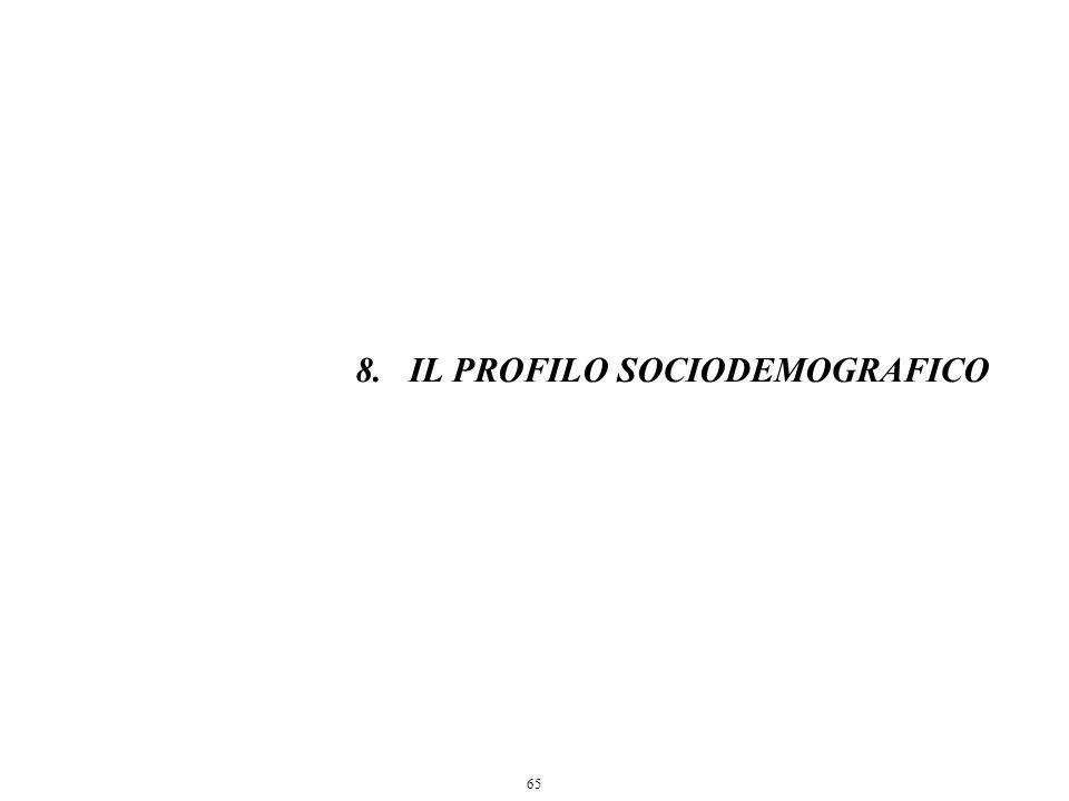 65 8.IL PROFILO SOCIODEMOGRAFICO