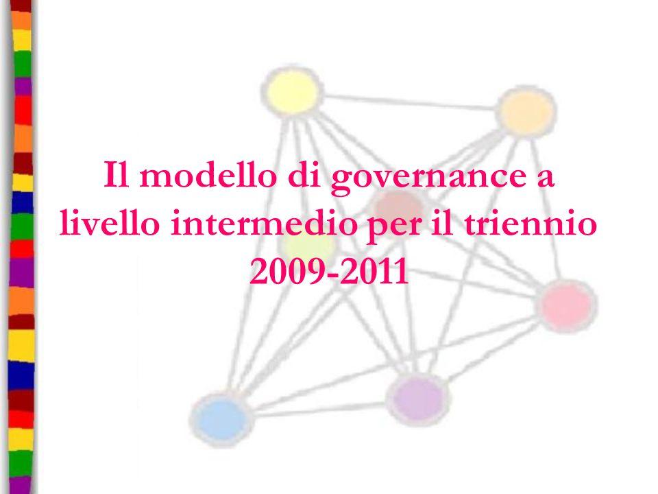 Il modello di governance a livello intermedio per il triennio 2009-2011