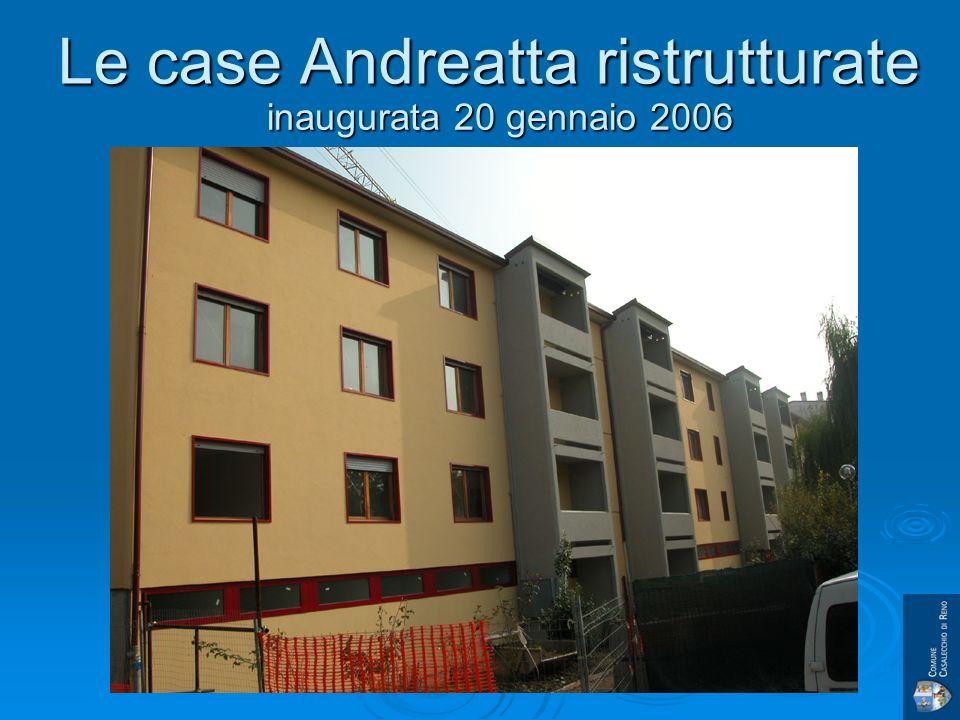Le case Andreatta ristrutturate inaugurata 20 gennaio 2006