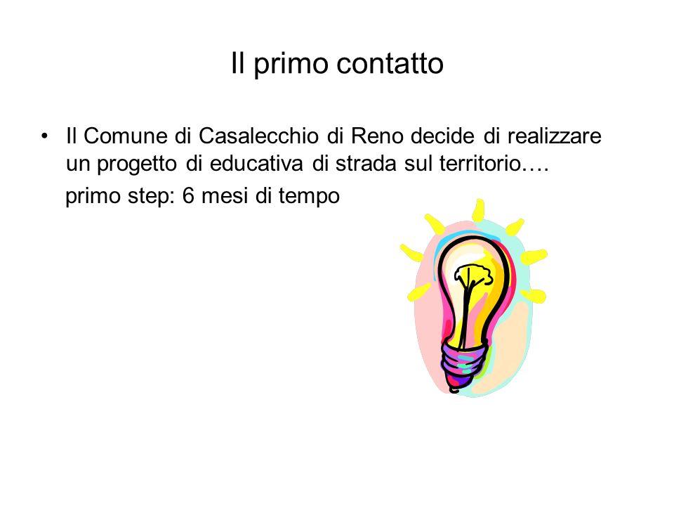 Il primo contatto Il Comune di Casalecchio di Reno decide di realizzare un progetto di educativa di strada sul territorio….