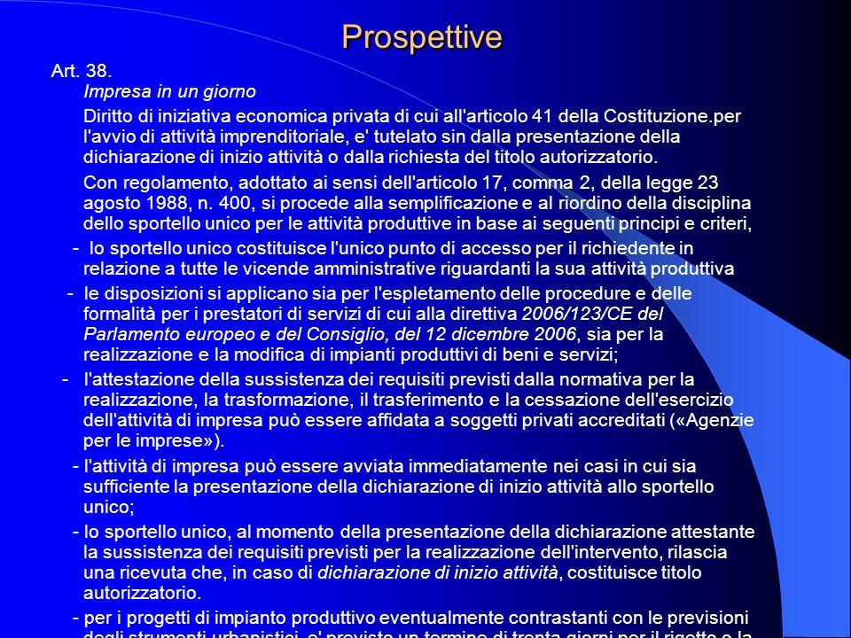 Prospettive Art. 38.
