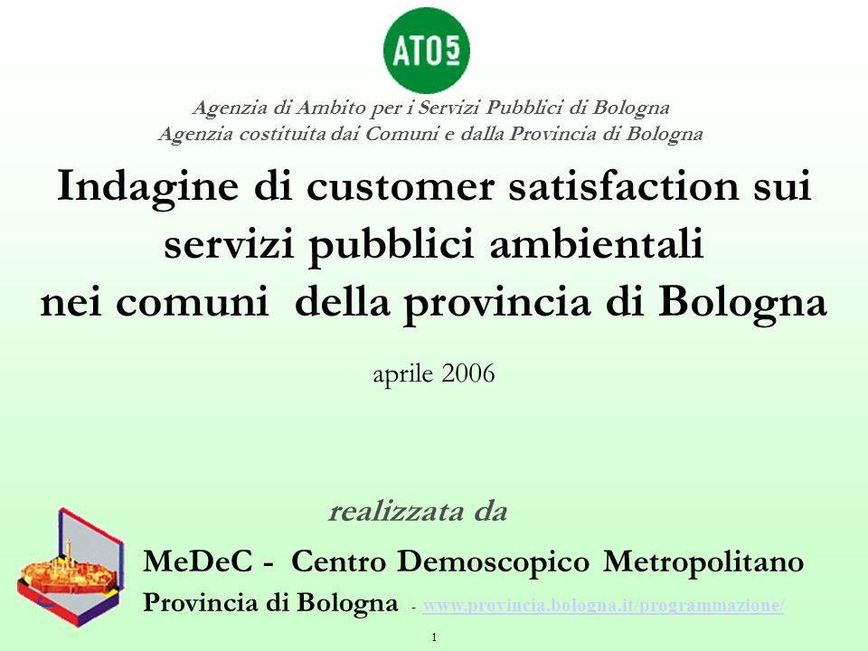 1 MeDeC - Centro Demoscopico Metropolitano Provincia di Bologna - www.provincia.bologna.it/programmazione/ www.provincia.bologna.it/programmazione/ In