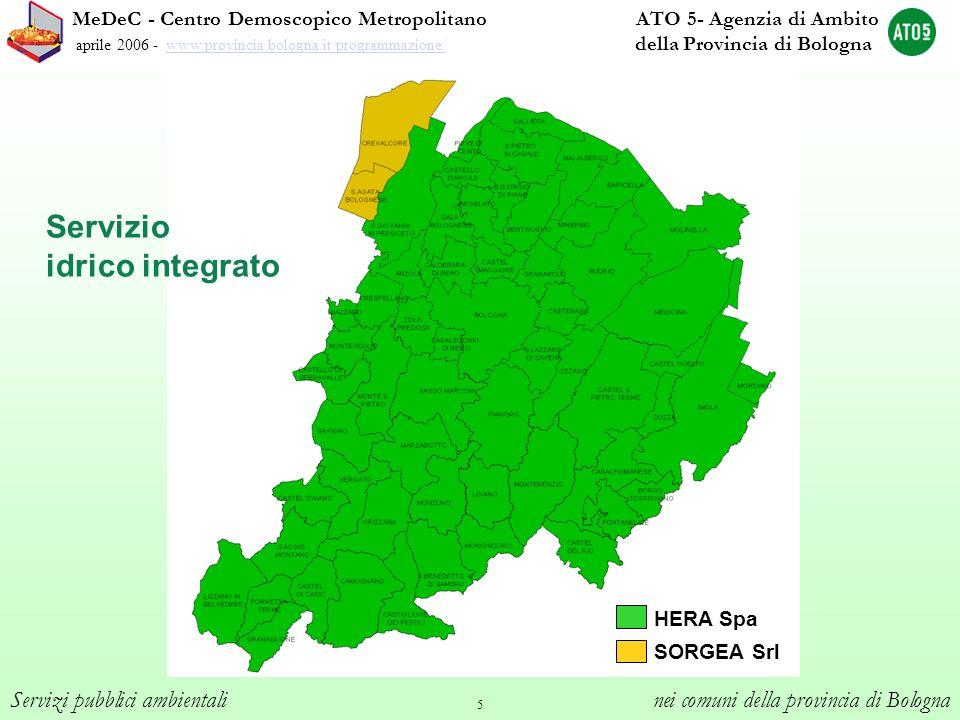 5 MeDeC - Centro Demoscopico Metropolitano ATO 5- Agenzia di Ambito aprile 2006 - www.provincia.bologna.it/programmazione/ della Provincia di Bolognaw