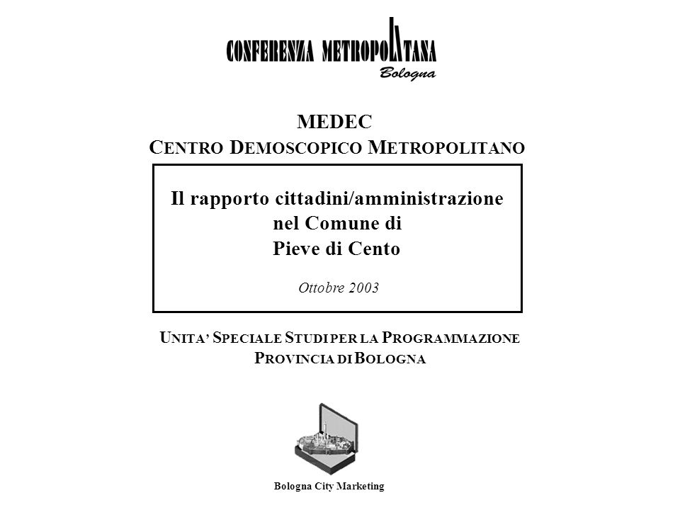 MeDeC - Centro Demoscopico MetropolitanoComune di Pieve di Cento