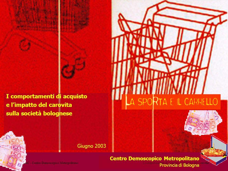 MeDeC - Centro Demoscopico MetropolitanoI comportamenti di acquisto e l'impatto del carovita Centro Demoscopico Metropolitano Provincia di Bologna I c