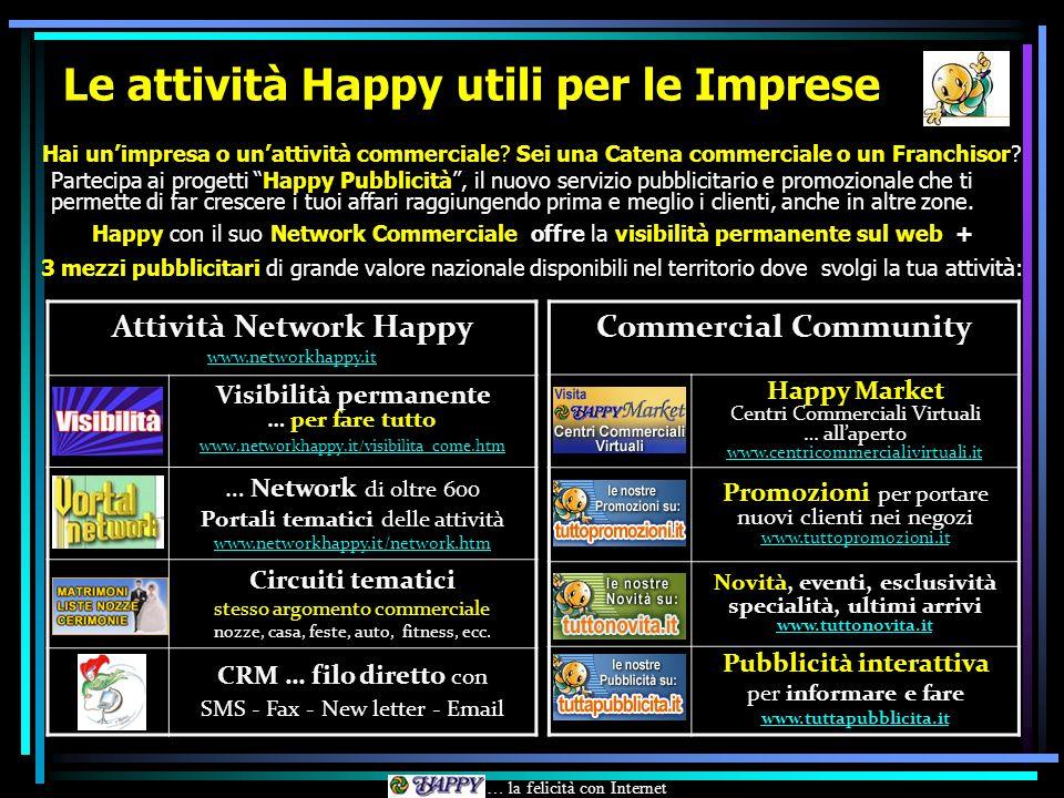 Le attività Happy utili per le Imprese Hai unimpresa o unattività commerciale.