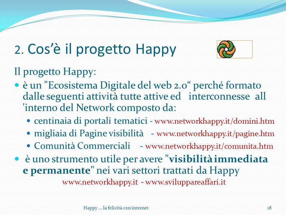 2. Cosè il progetto Happy Il progetto Happy: è un