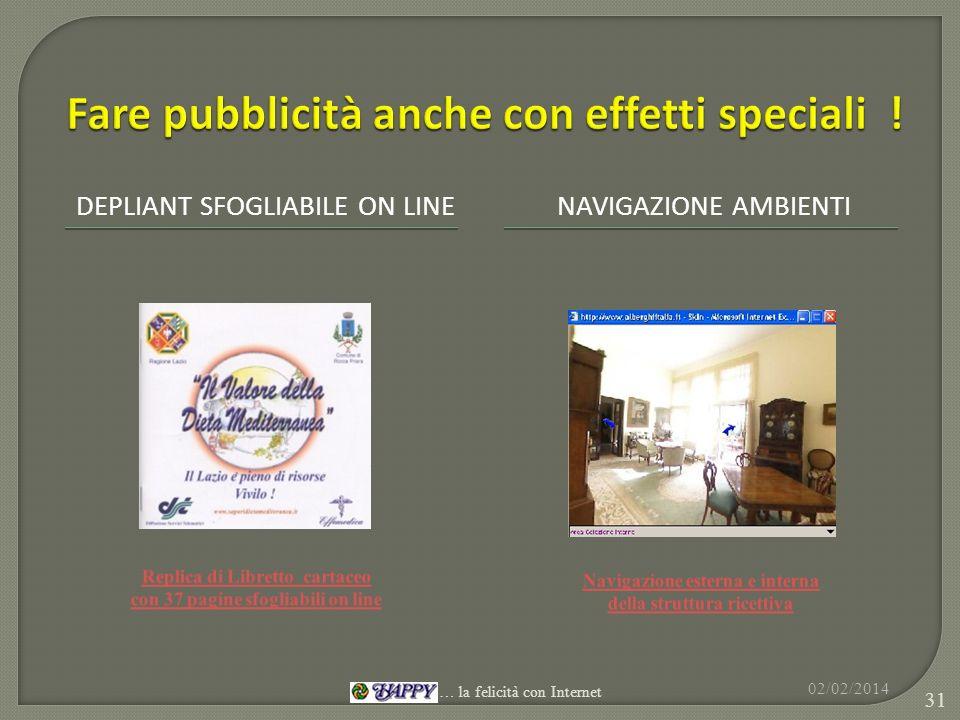 DEPLIANT SFOGLIABILE ON LINENAVIGAZIONE AMBIENTI 02/02/2014 31 … la felicità con Internet