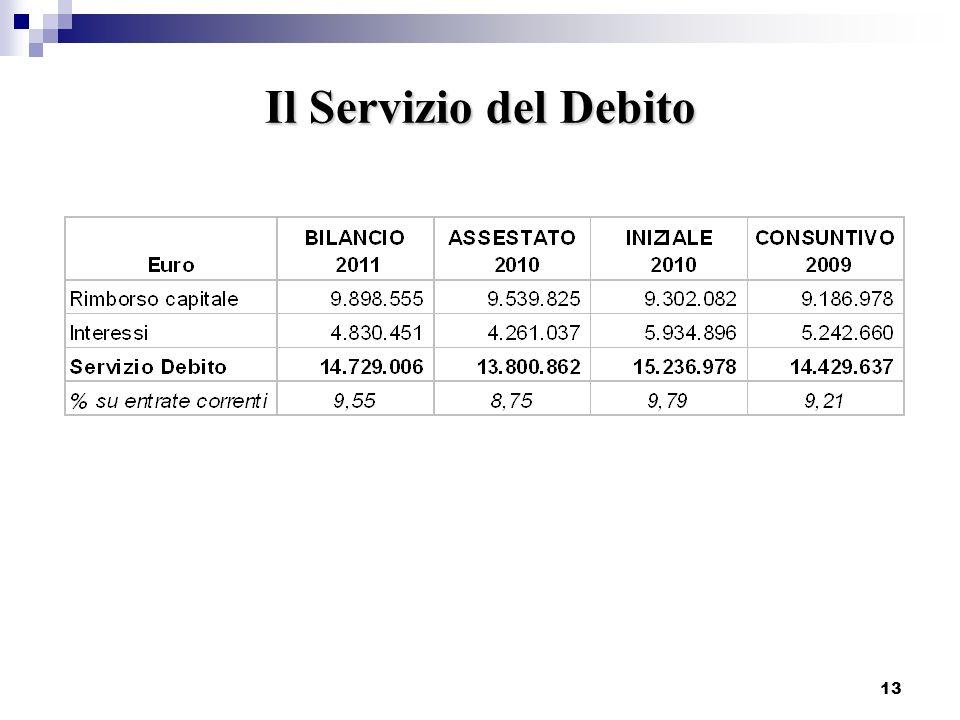 13 Il Servizio del Debito