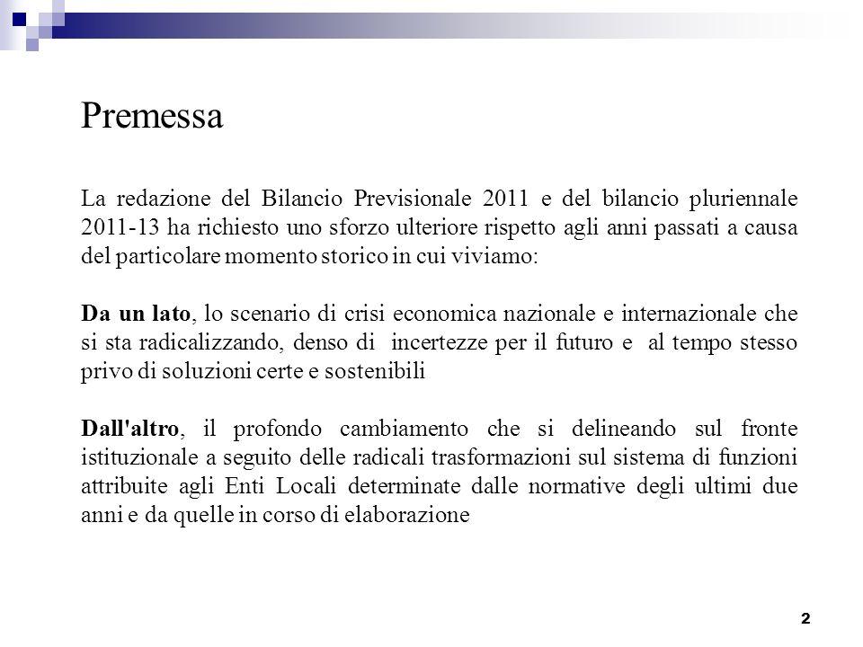 3 Lo scenario economico La Provincia di Bologna sta vivendo un periodo, ormai lungo, di grave crisi economica che interessa lintero territorio con gravissime ripercussioni sull intero contesto territoriale.