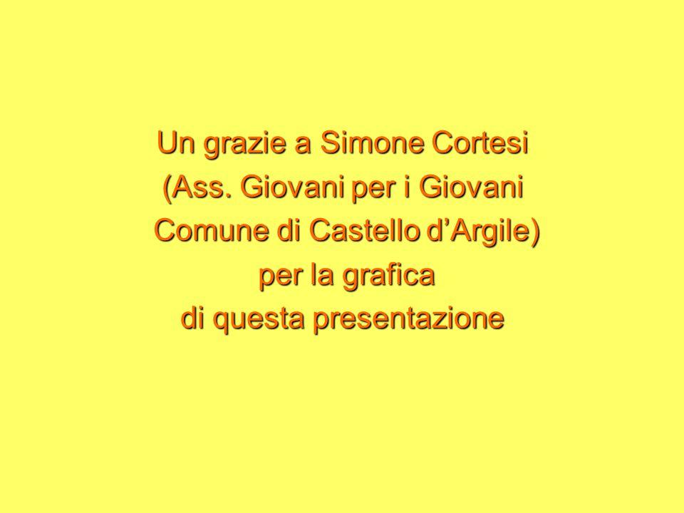 Un grazie a Simone Cortesi (Ass.