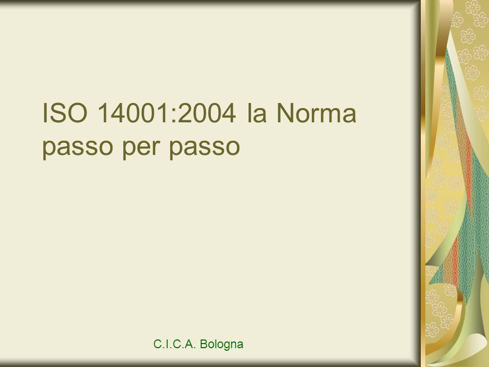 ISO 14001:2004 la Norma passo per passo C.I.C.A. Bologna