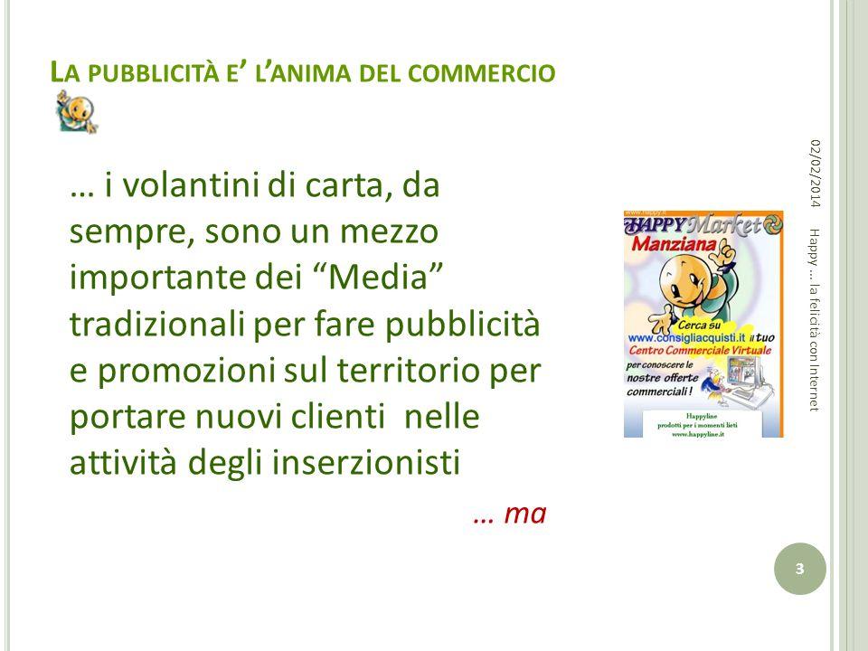 L A PUBBLICITÀ E L ANIMA DEL COMMERCIO … i volantini di carta, da sempre, sono un mezzo importante dei Media tradizionali per fare pubblicità e promoz