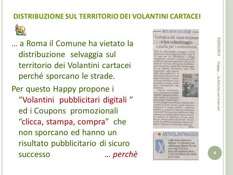 DISTRIBUZIONE SUL TERRITORIO DEI VOLANTINI CARTACEI … a Roma il Comune ha vietato la distribuzione selvaggia sul territorio dei Volantini cartacei per