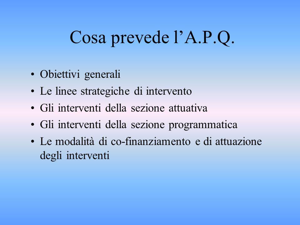 Cosa prevede lA.P.Q.