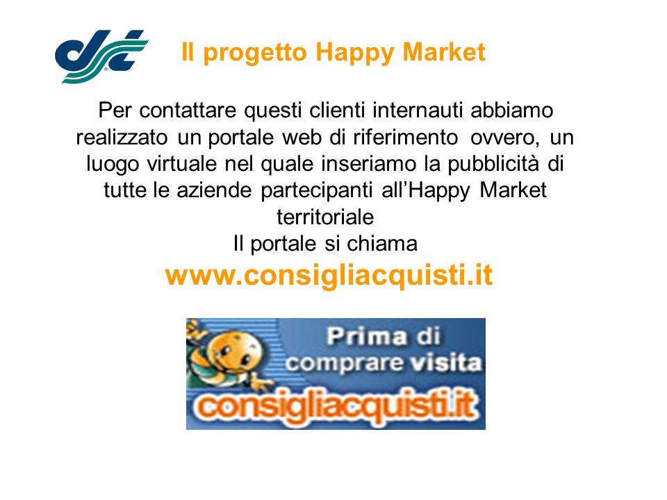 Il progetto Happy Market Per contattare questi clienti internauti abbiamo realizzato un portale web di riferimento ovvero, un luogo virtuale nel quale