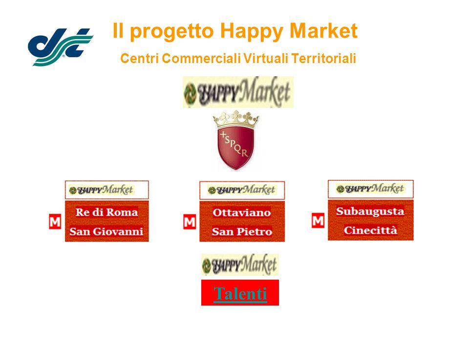 Il progetto Happy Market Centri Commerciali Virtuali Territoriali Talenti