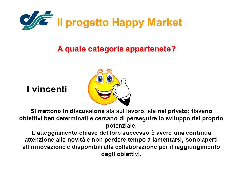 Il progetto Happy Market Si mettono in discussione sia sul lavoro, sia nel privato; fissano obiettivi ben determinati e cercano di perseguire lo svilu